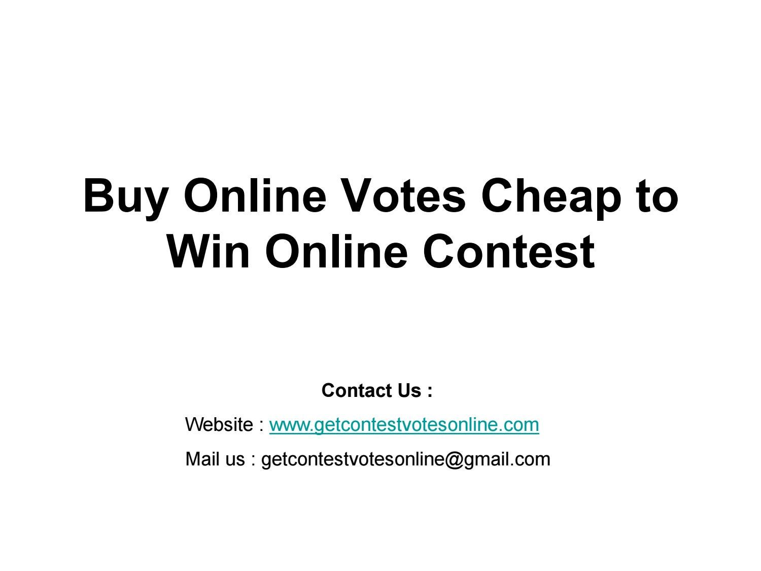 How to buy votes in Contact