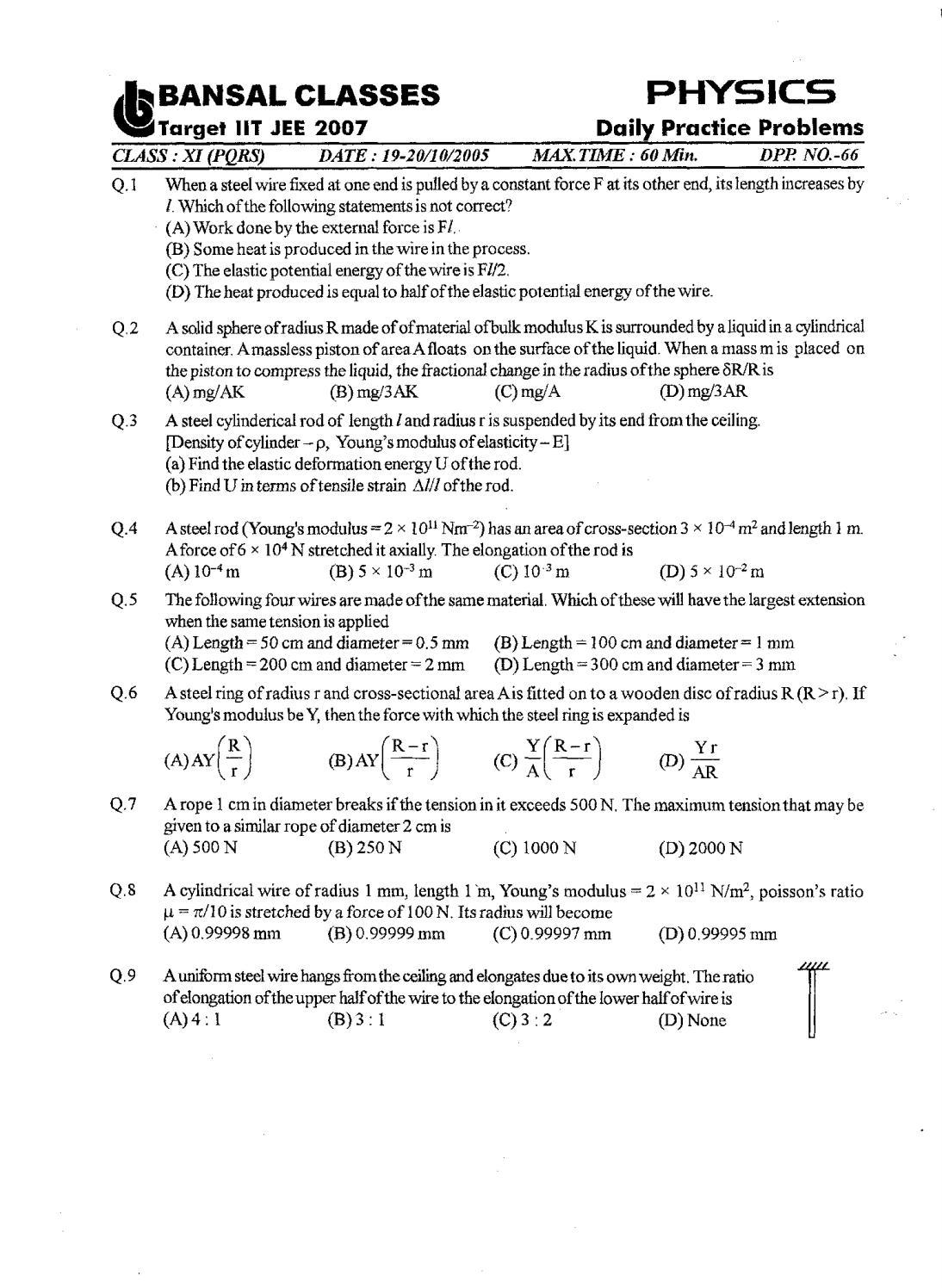Bansal classes 11th standard physics dpps 55844dc959710 pdf\' by S ...