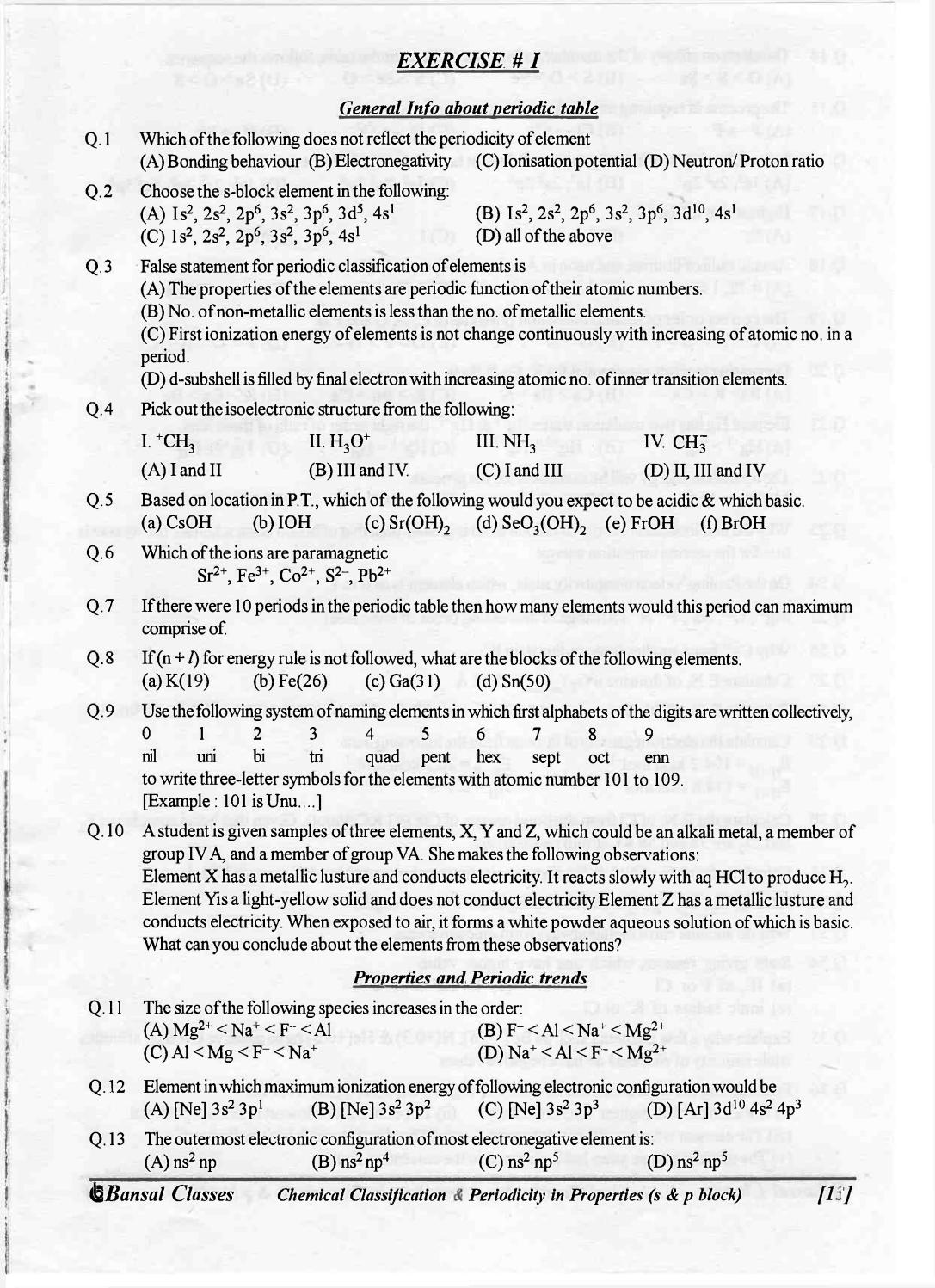 Bansal classes chemistry study material for iit jee by sdharmaraj bansal classes chemistry study material for iit jee by sdharmaraj issuu gamestrikefo Image collections