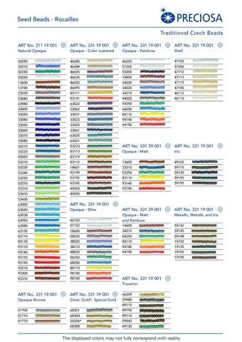 Preciosa Colour Chart By Uab Artibalta Issuu