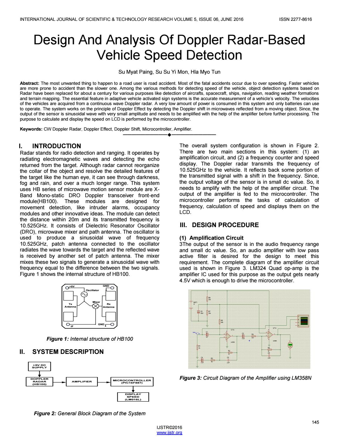 Design And Analysis Of Doppler Radar Based Vehicle Speed Detection Lm324 Comparator Circuit By Ijstr Research Publications Issuu