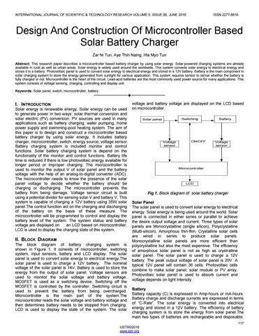 Design and construction of microcontroller based solar