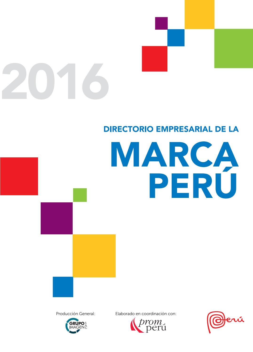 Directorio De La Marca Peru 2016 Final By Grupo Imagen Sac