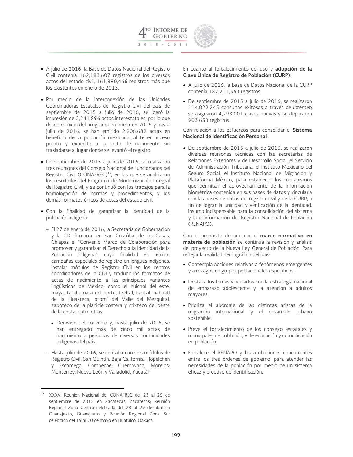 4to Informe De Gobierno Epn 3 By Confederación De Jubilados