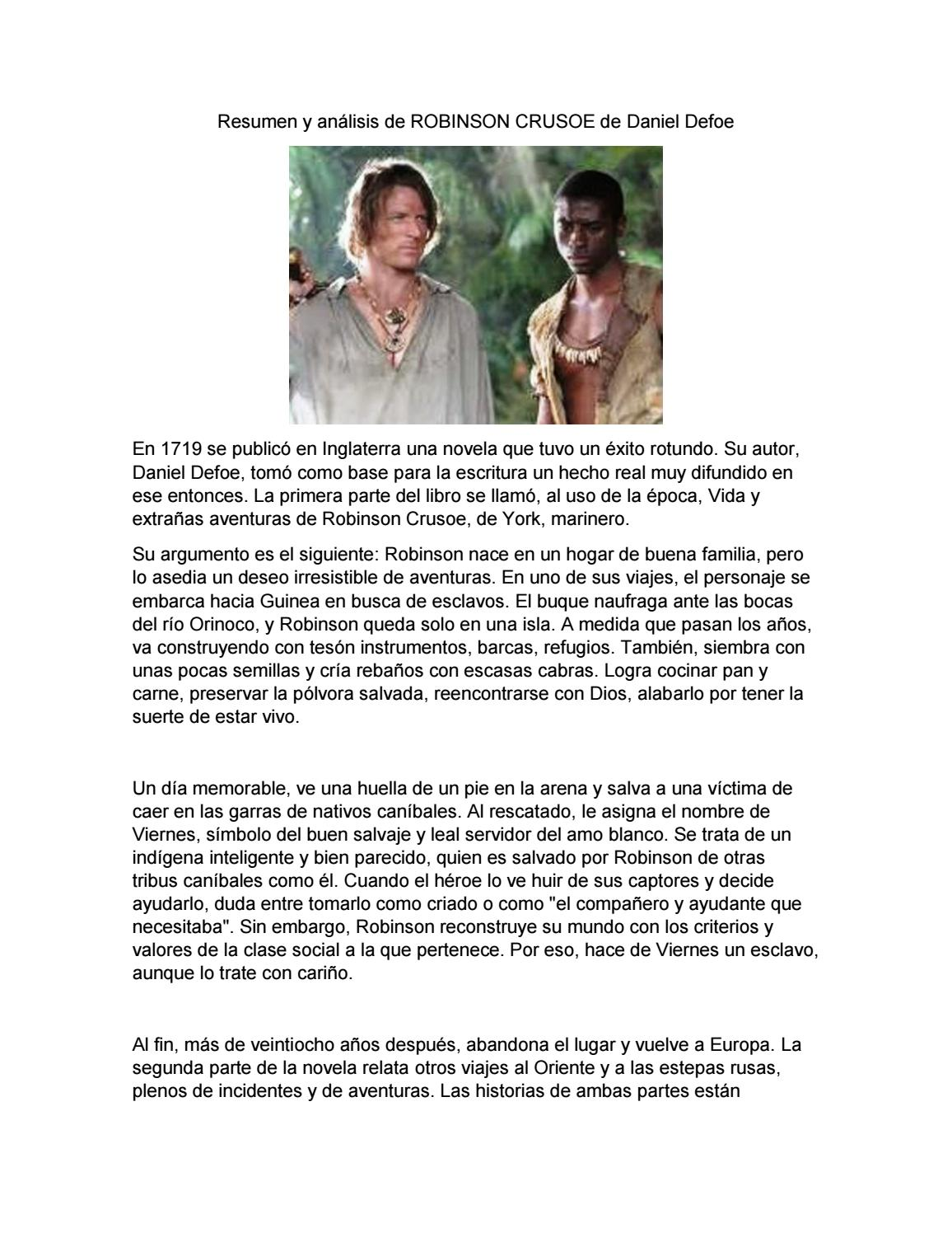 Resumen Y Análisis De Robinson Crusoe By Felipe Rodriguez Issuu