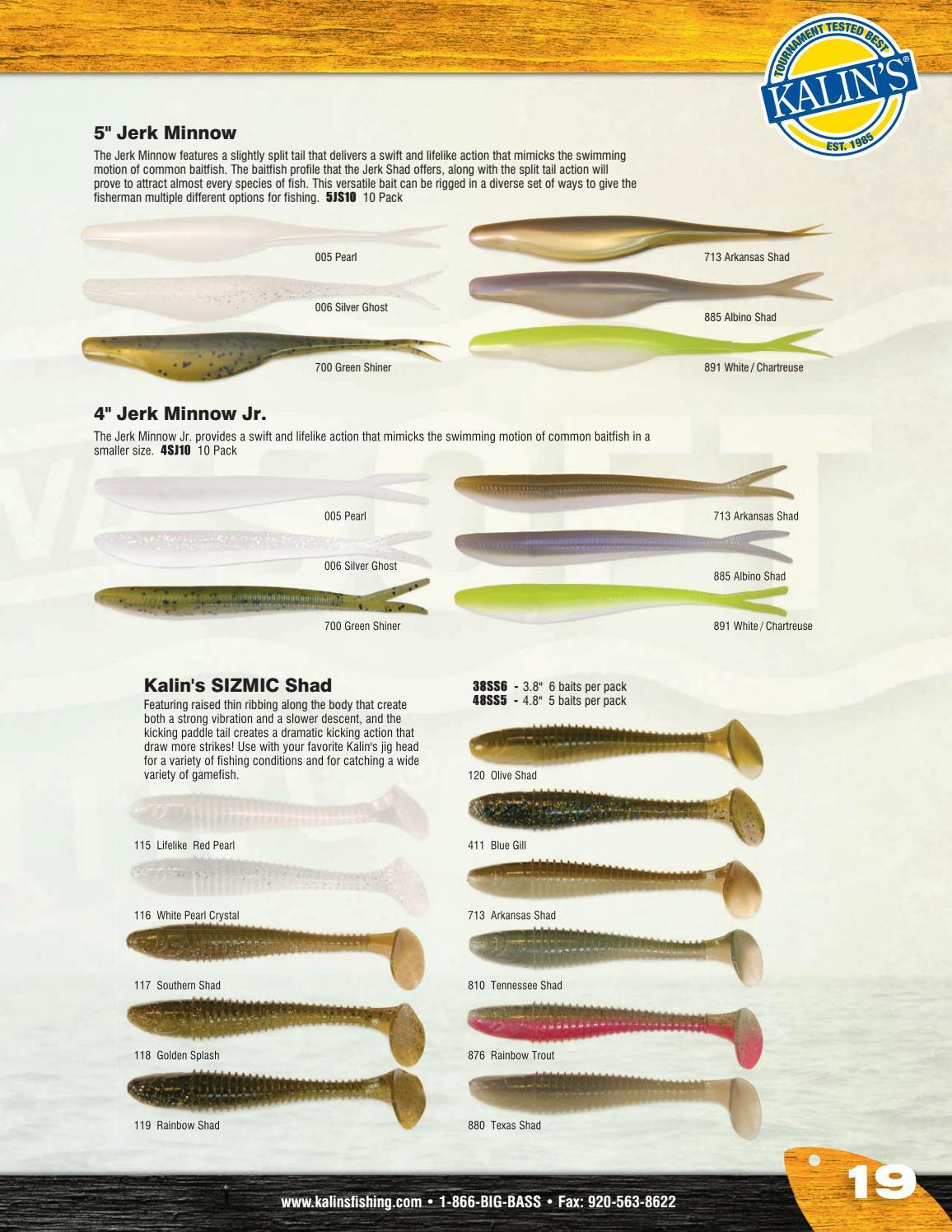 "Kalins Sizmic Shad High Vibration paddle tail  4.8/"" White Crystal"