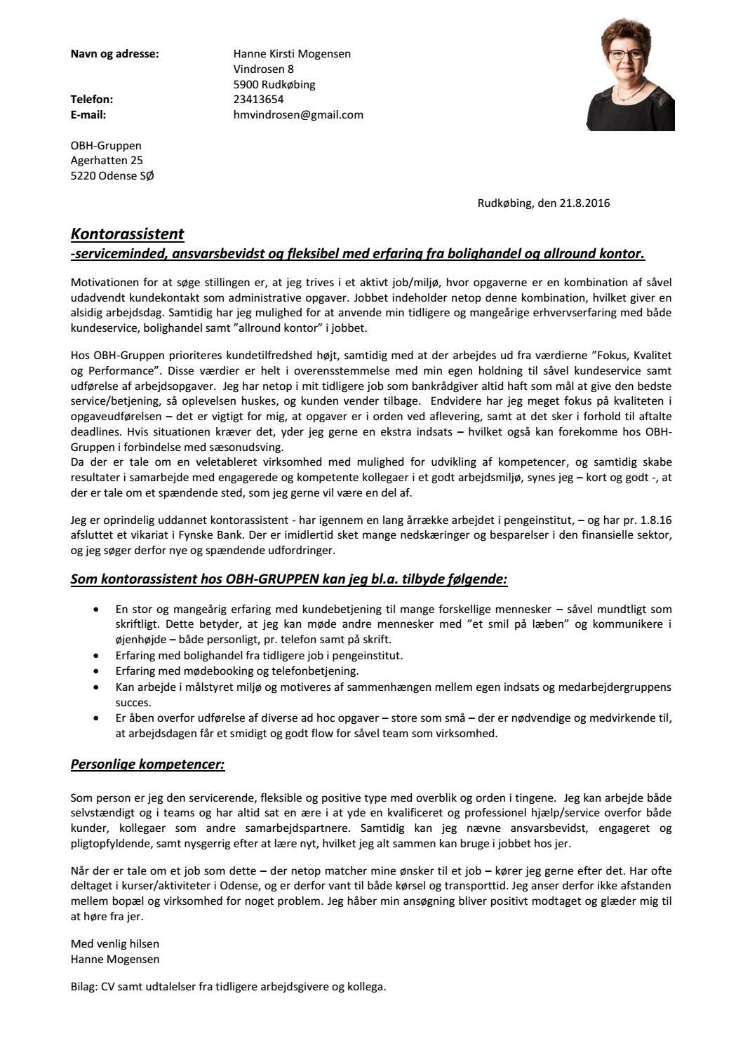 Ansøgning kontorassistent by hannekirstimogensen - Issuu