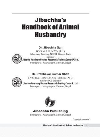 Jibachha's handook of animal husbandry by Jibachha Shah - issuu