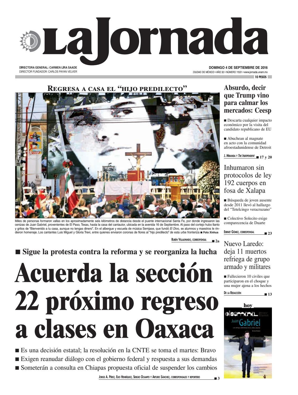 La Jornada, 09/04/2016 by La Jornada: DEMOS Desarrollo de Medios SA ...
