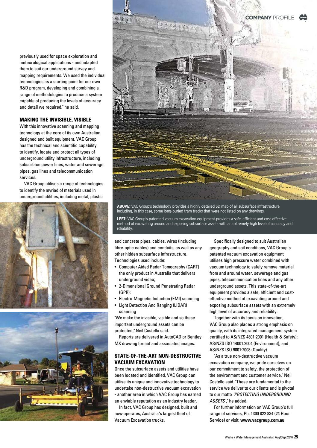 Waste + Water Management Australia V43 2 Aug-Sept 2016 by EPC Media