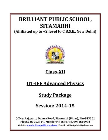Doc 126 b p s xii physics iit jee advanced study package 2014 15 by