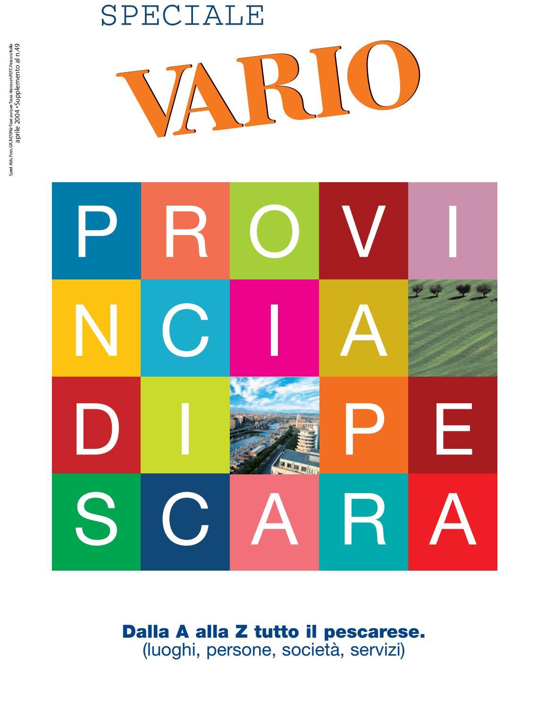 Speciale Provincia Pescara 2005 By Vario Issuu