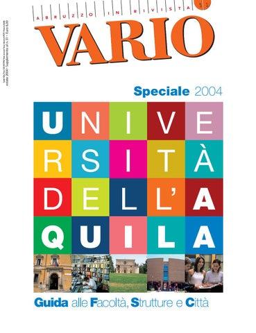 Speciale univaq 2004 by Vario - issuu 02b13e4d5ec6