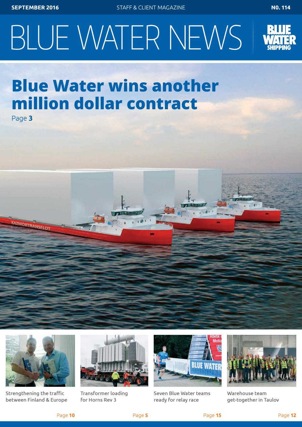 Blue Water NEWS - September 2016 English by Blue Water