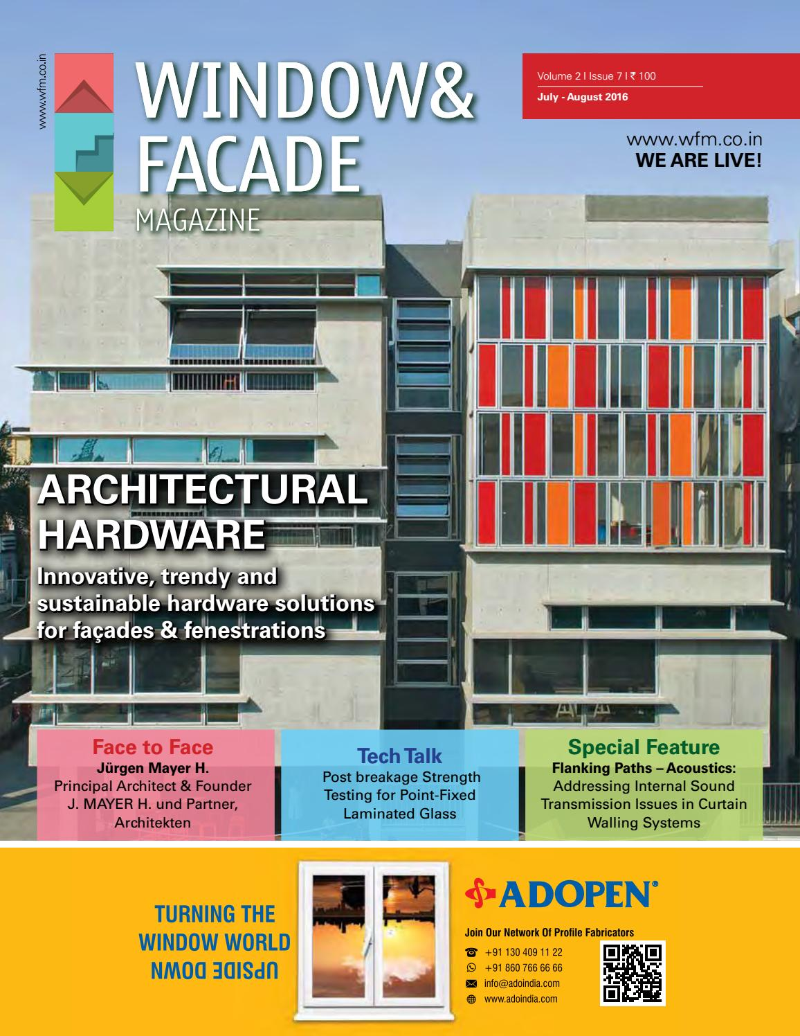 Window & Facade Magazine - July/August 2016 Issue by F & F