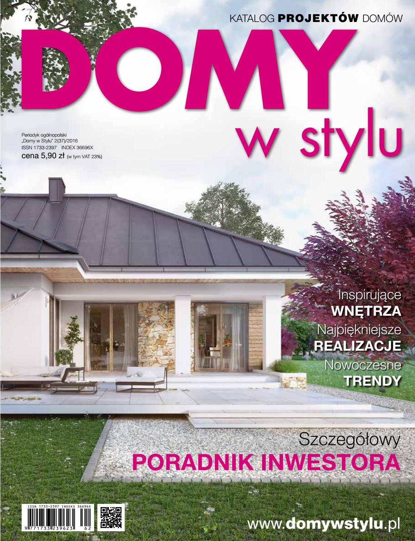 fc1b678bd2 Projekty domów - katalog DOMY w Stylu 2(37) 2016 by DOMY w Stylu - issuu