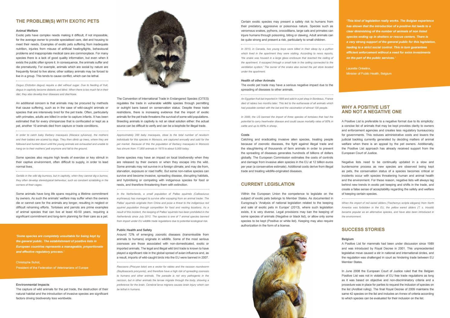 Eurogroup for Animals - #Act4Wildlife - Positive list