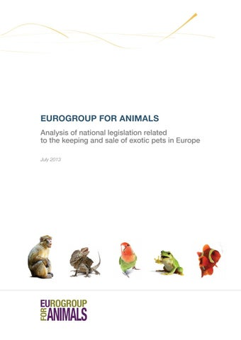 Eurogroup for Animals - #Act4Wildlife - Exotic-Pet-Report by