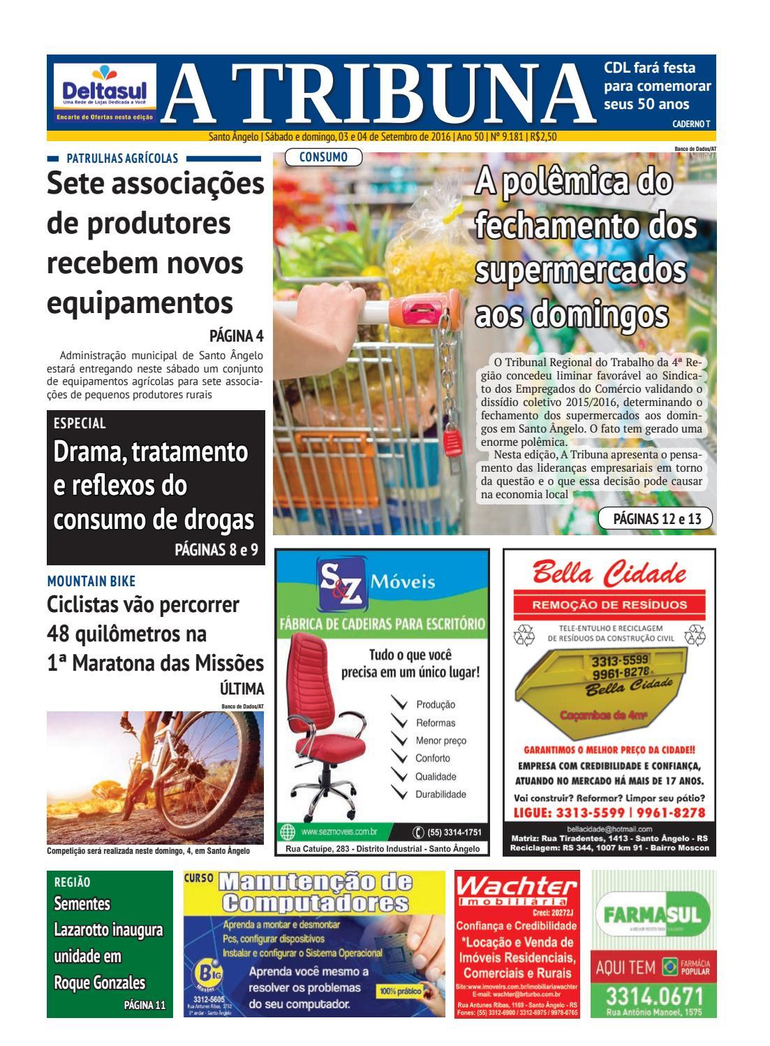 57ed537d9 Jornal A Tribuna 3 e 4 de setembro de 2016 by Jornal A Tribuna - Santo  Ângelo - issuu