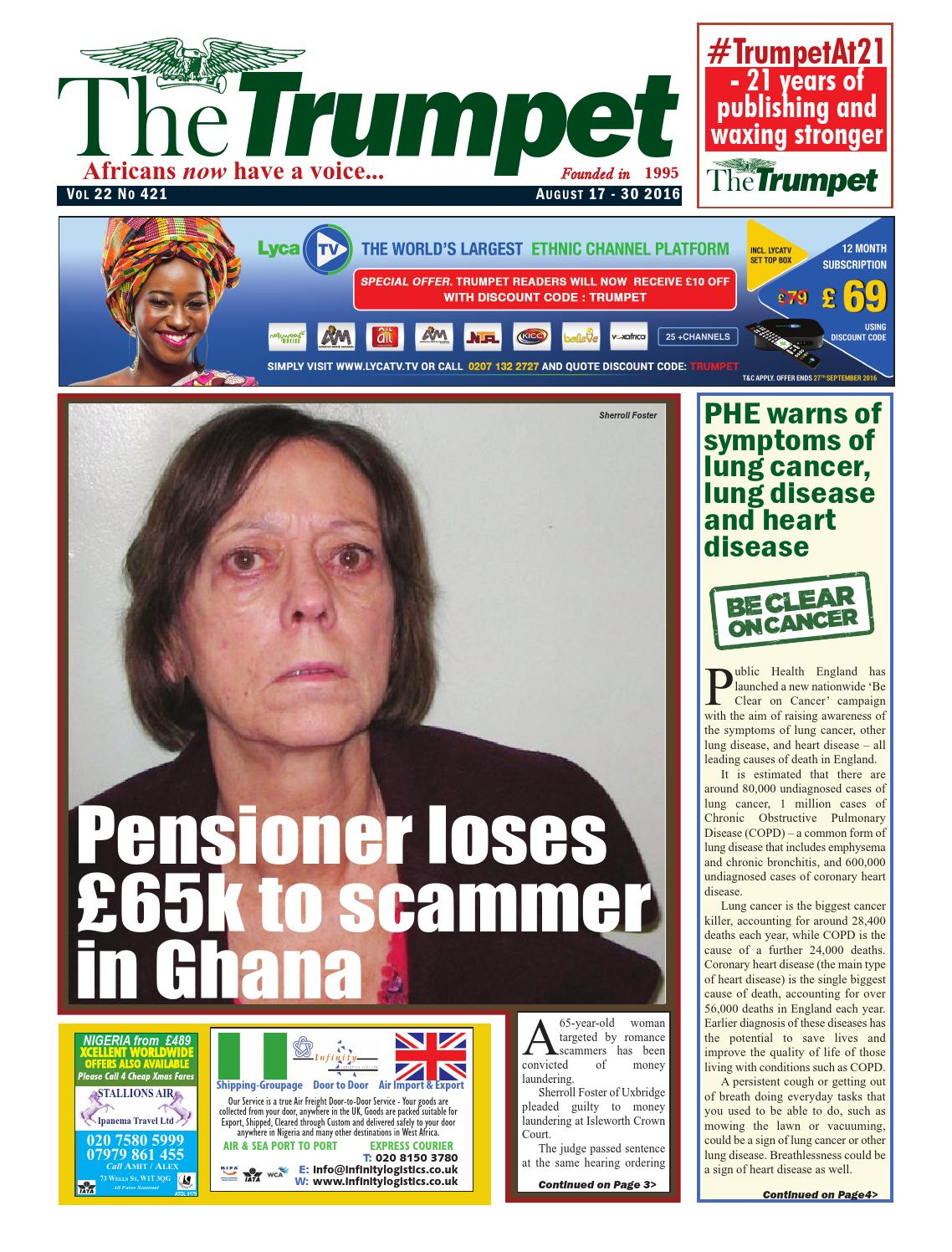 The Trumpet Newspaper Issue 421 (August 17 - 30 2016) by Trumpet
