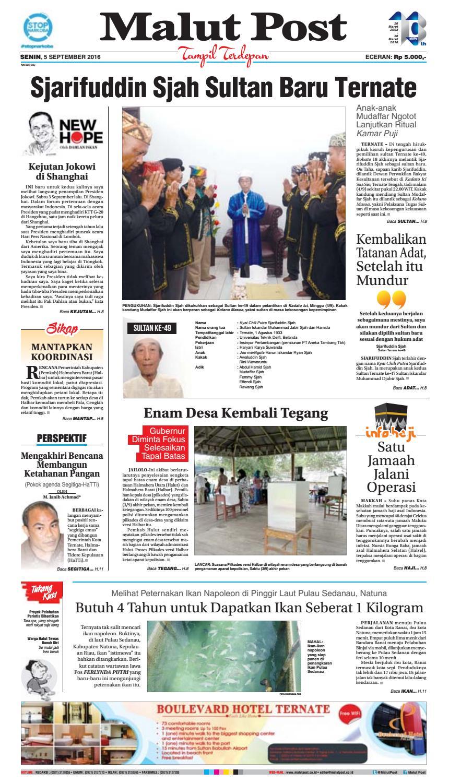 Malut Post 05 September 2016 By Issuu Poduk Ukm Bumn Mr Kerbaw Keripik Bawang Bayam