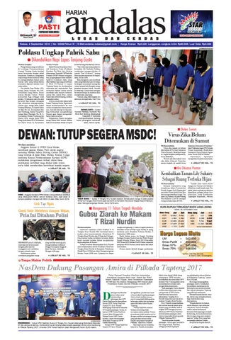 Epaper Andalas Edisi Selasa 6 September 2016 By Media Andalas Issuu