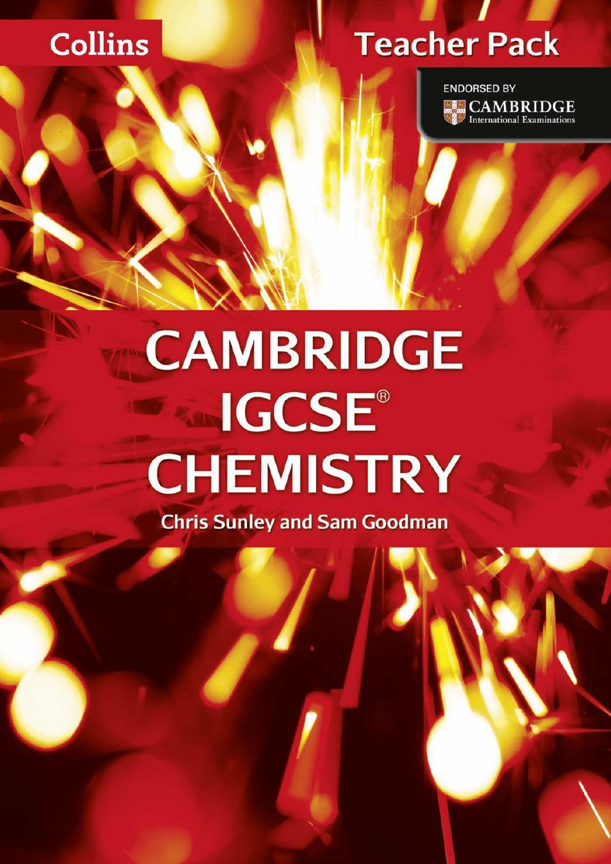 Cambridge IGCSE Chemistry Teacher Pack by Collins - issuu
