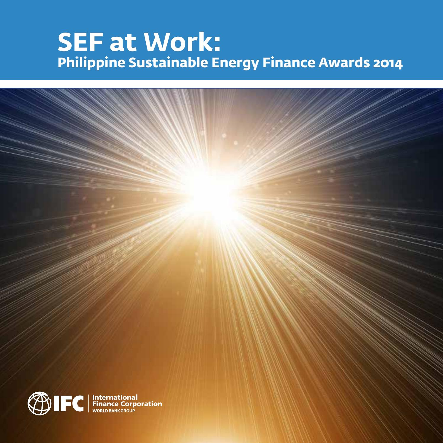 Op Een Bankje Sef.Sef At Work Philippines Sustainable Energy Finance Awards 2014 By