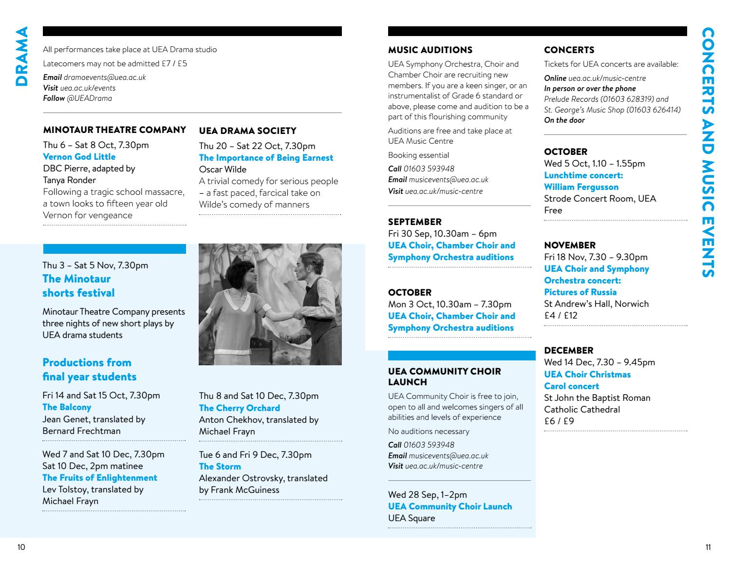 WHAT'S ON - Autumn 2016 by What's On at UEA - issuu