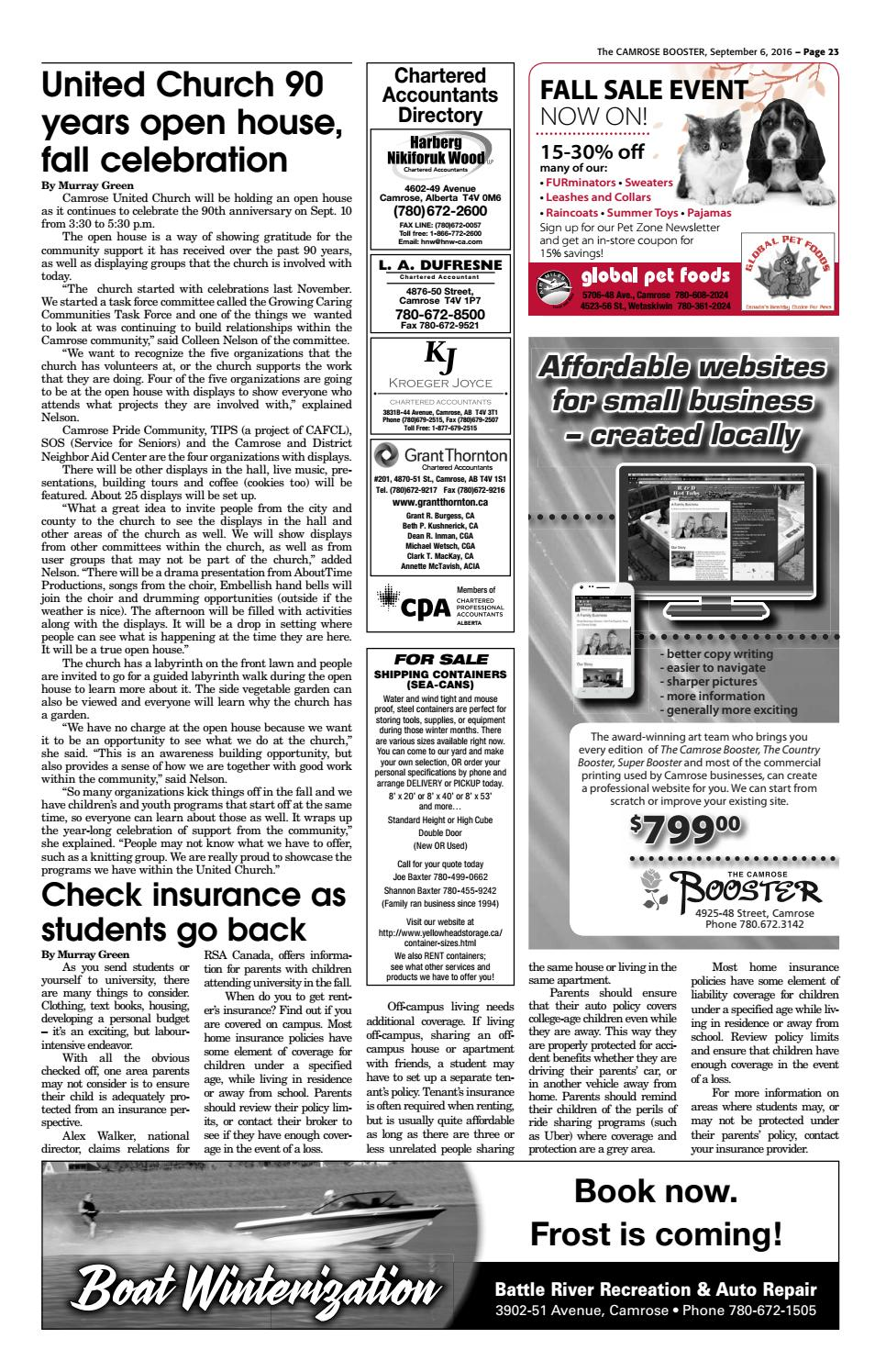 September 6, 2016 Camrose Booster by The Camrose Booster - issuu