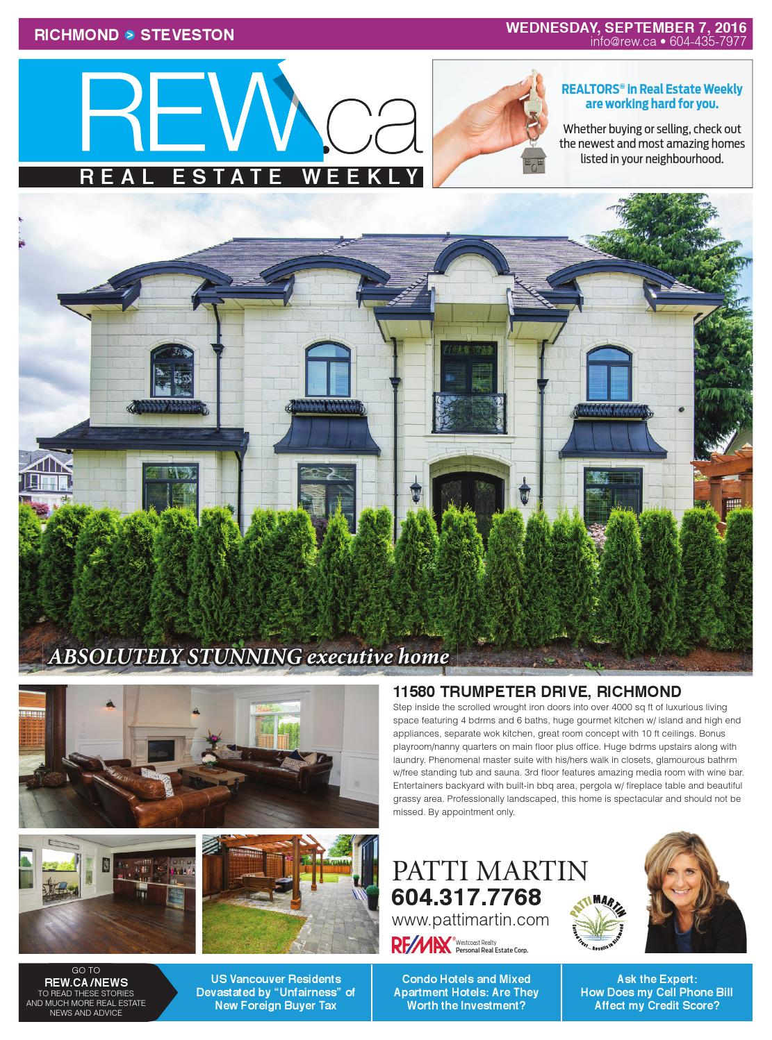 RICHMOND Sept 7, 2016 Real Estate Weekly by Real Estate Weekly - issuu