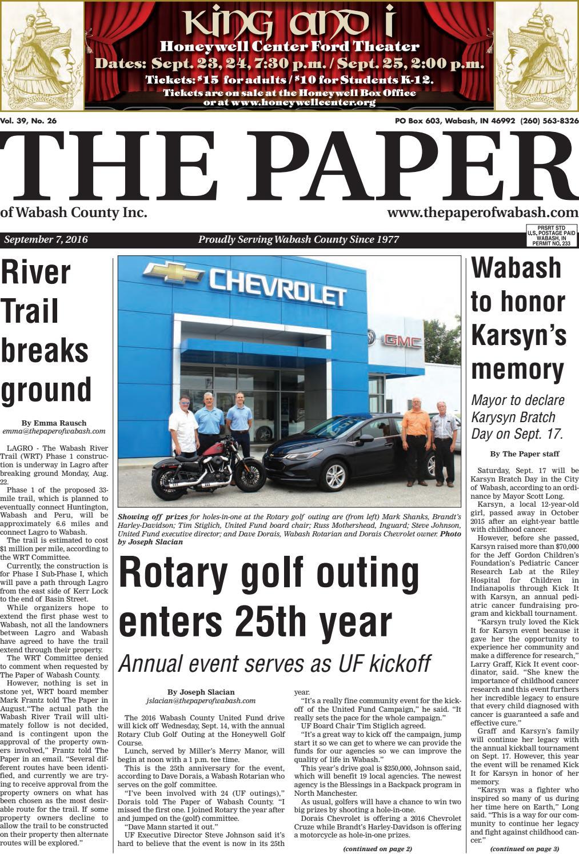 Indiana wabash county lagro - The Paper Of Wabash County Sept 7 2016 Issue By The Paper Of Wabash County Issuu