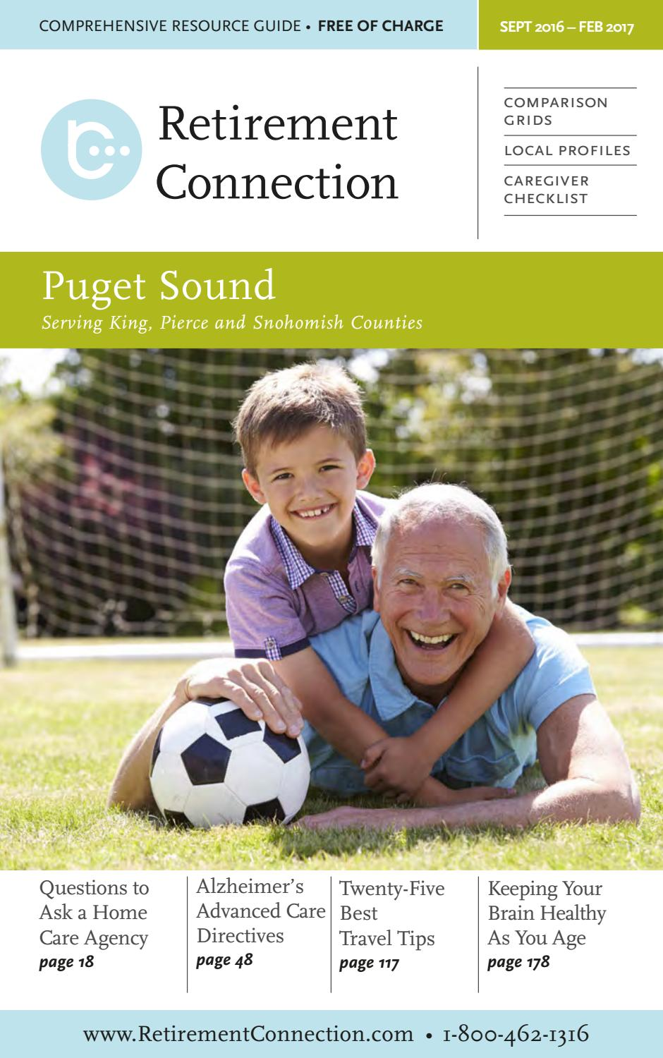 September 2016 Retirement Connection Guide Puget Sound By Retirement  Connection  Issuu