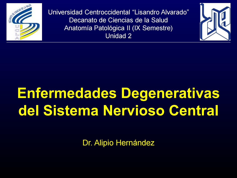 Enfermedades degenerativas del sistema nervioso central by Alipio ...