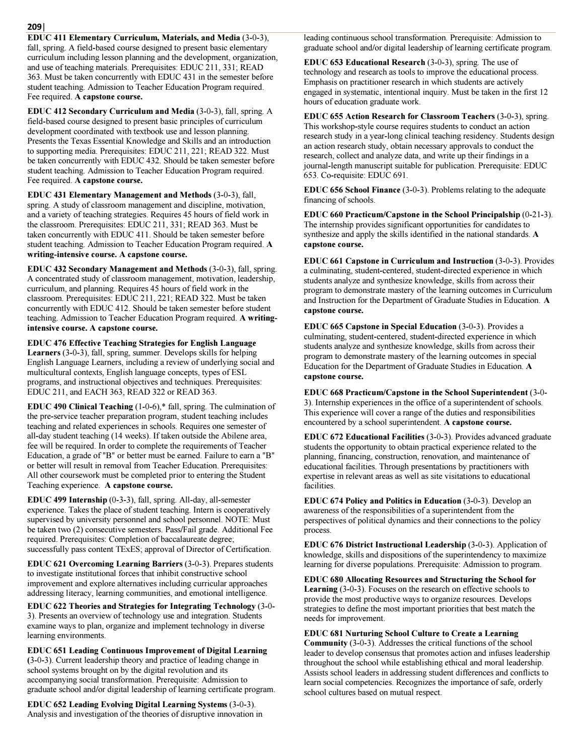 2016 17 Catalog By Abilene Christian University Issuu