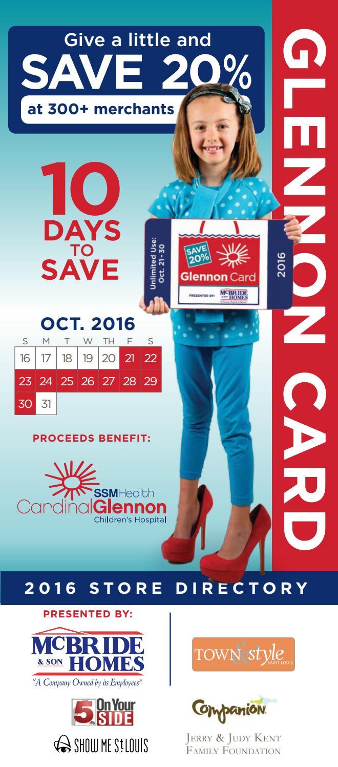 2016 Glennon Card Directory by SSM Health Cardinal Glennon Children's  Foundation - issuu