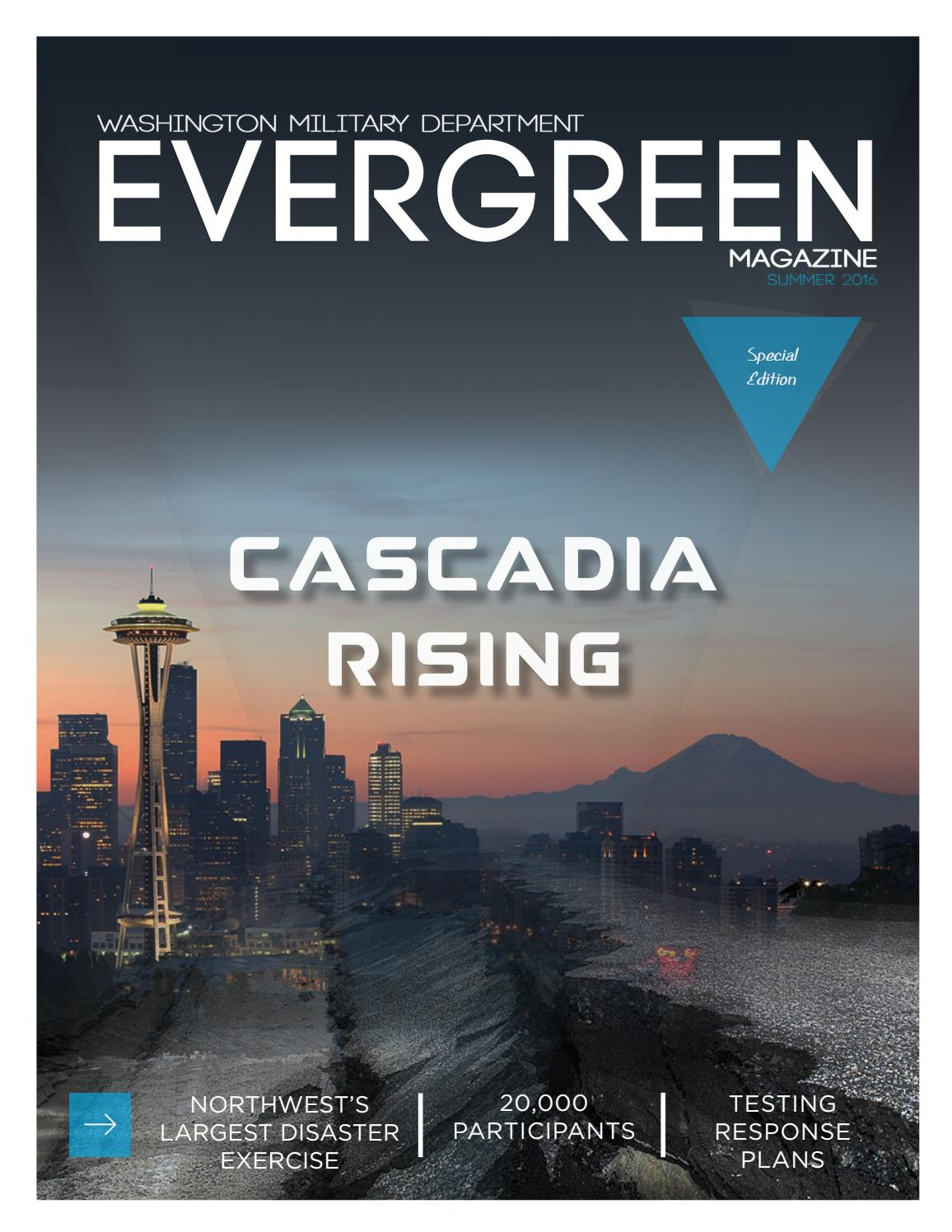 Evergreen magazine cascadia rising by washington military for Evergreen magazine