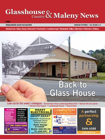 fca2a7fc32cd Edition 7 september 2016 by Glasshouse Country   Maleny News - issuu