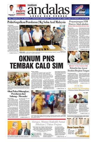 Epaper Andalas Edisi Rabu 7 September 2016 By Media Andalas Issuu
