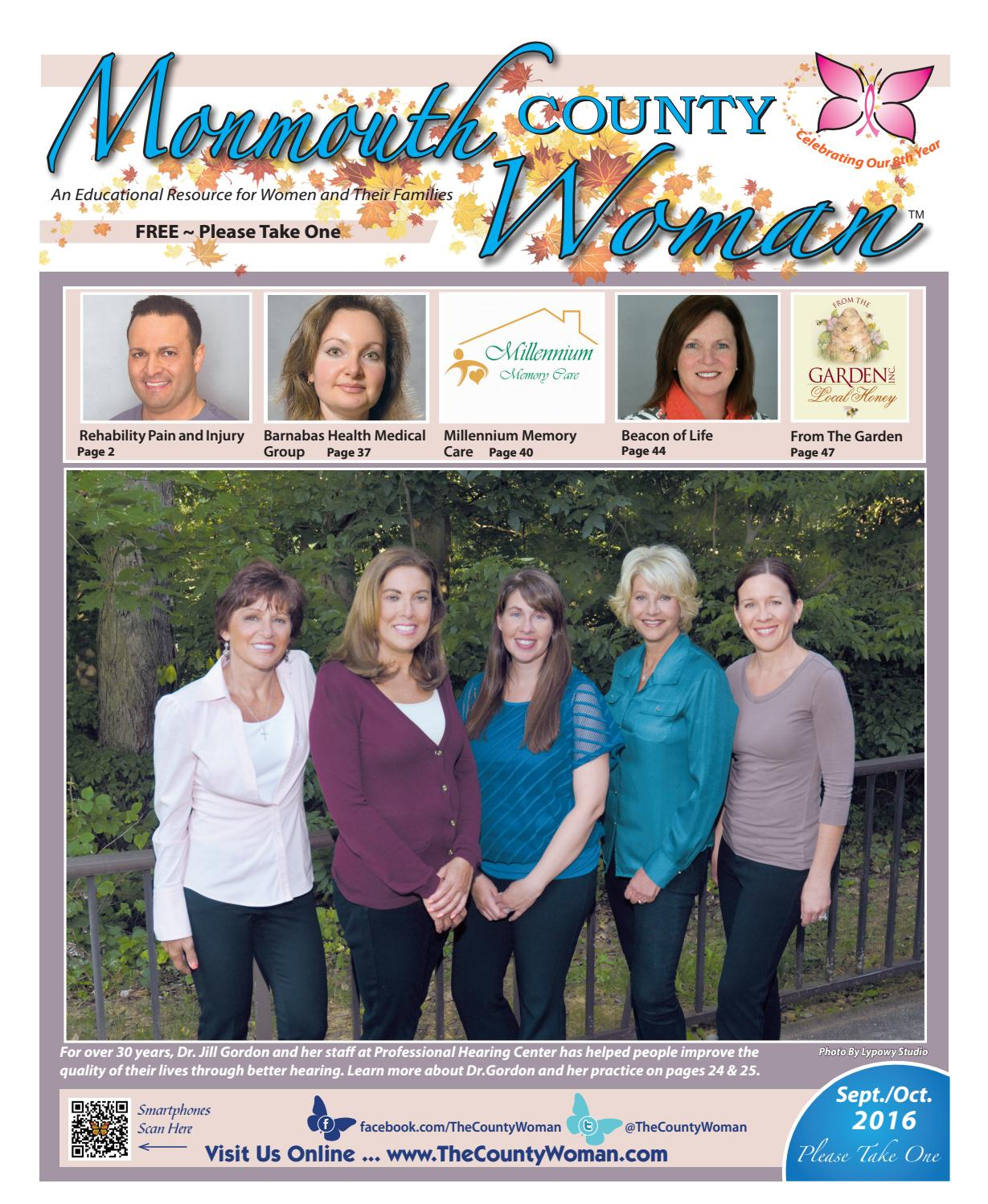 Garden state physical therapy - Monmouth County Woman 2016 September October By The County Woman Issuu