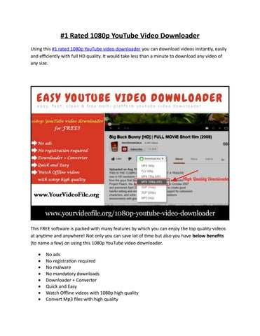 youtube video downloader free online 1080p