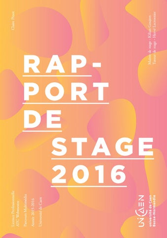Rapport De Stage Agence 148 By Claire Pinot Issuu
