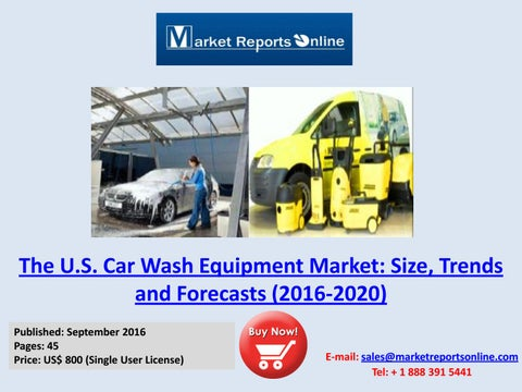 Self serve carwash news winter 2016 by jv issuu the us self service car wash equipment market analysis forecasts solutioingenieria Images