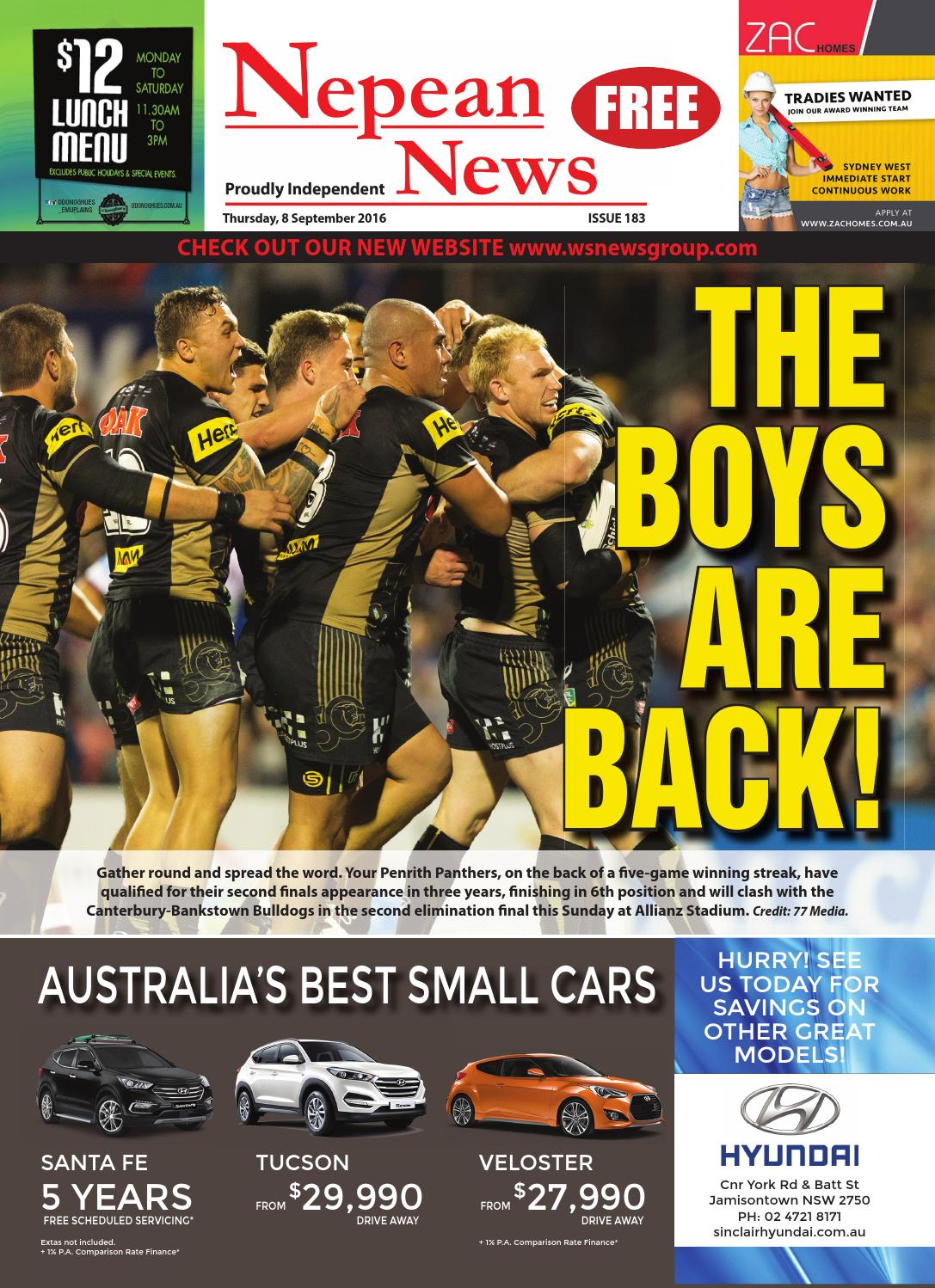 66289438927 Nepeannews 8september2016 by Nepean News - issuu