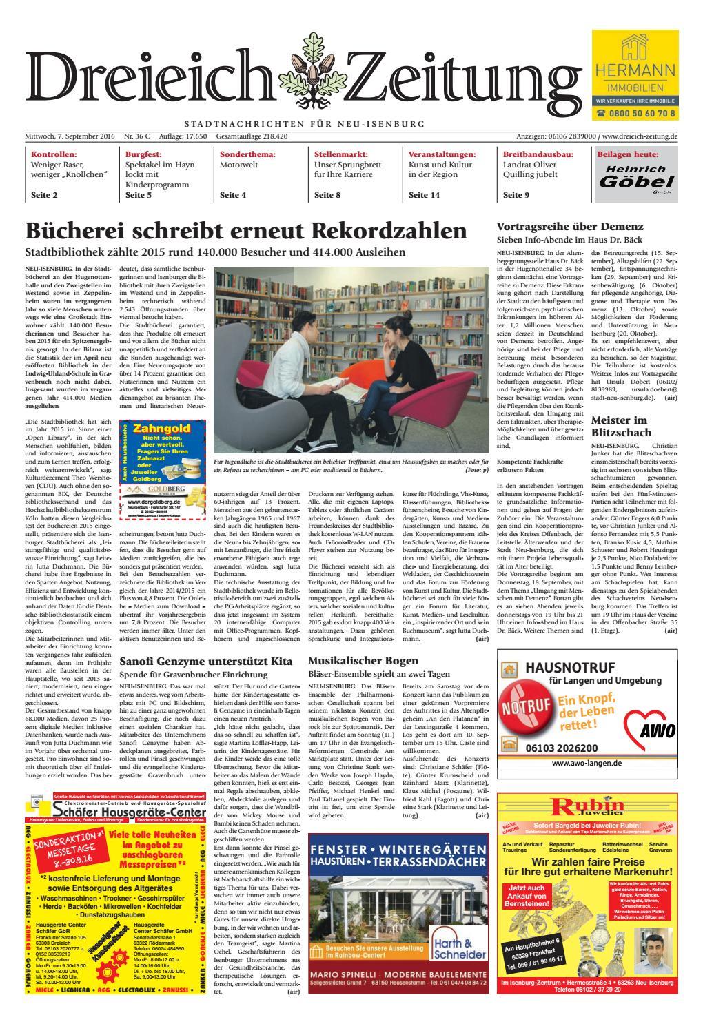 Dz Online 036 16 C By Dreieich Zeitung Offenbach Journal Issuu