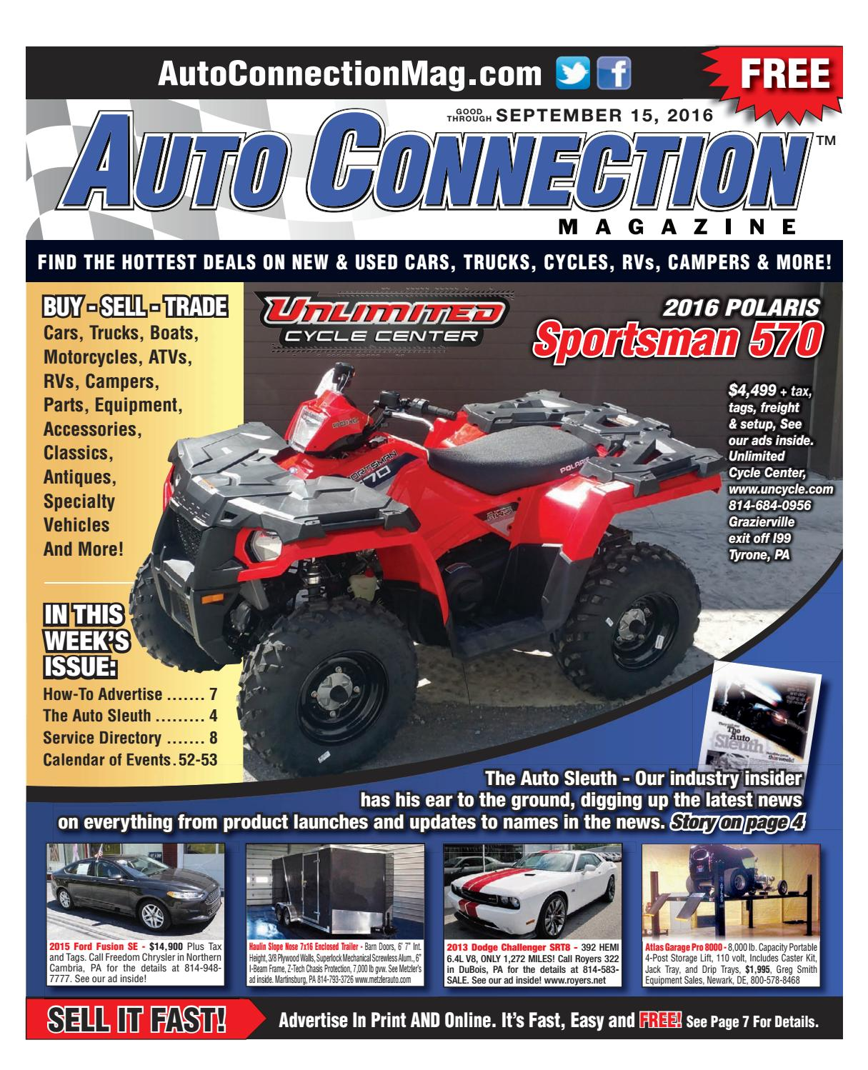 09-15-16 Auto Connection Magazine by Auto Connection Magazine - issuu