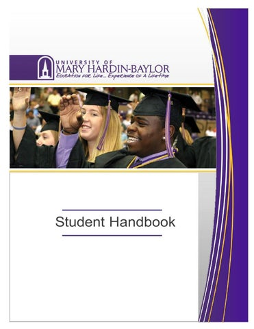 2016 17 Student Handbook By University Of Mary Hardin Baylor Issuu
