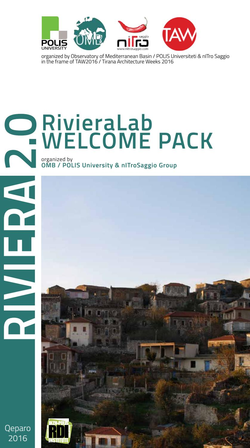 Rivieralab2016 welcomepack by POLIS University - issuu