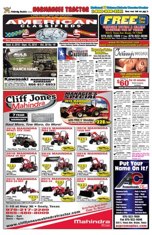 American Classifieds Sept  9th Edition Bryan/College Station