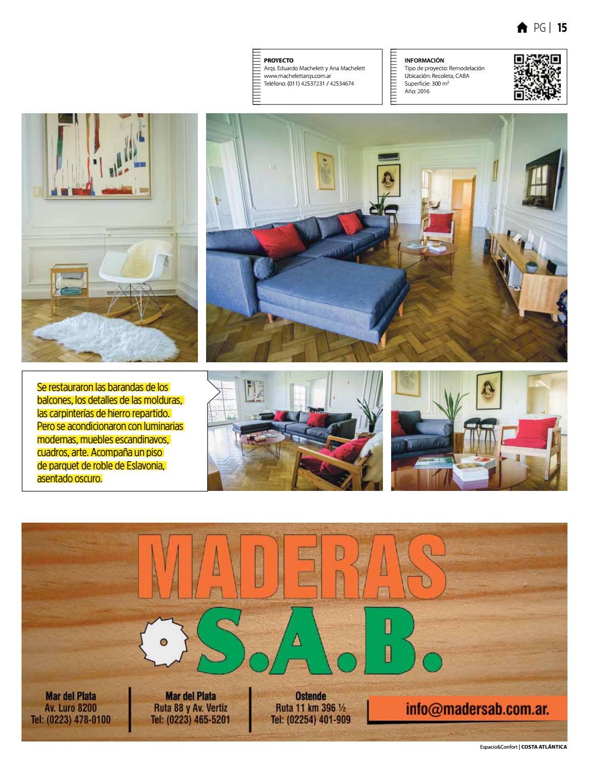 100 Costa Septiembre 2016 By Revista Espacio Confort  # Muebles Luro Mar Del Plata